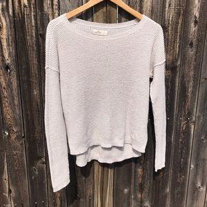hollister crochet sweater